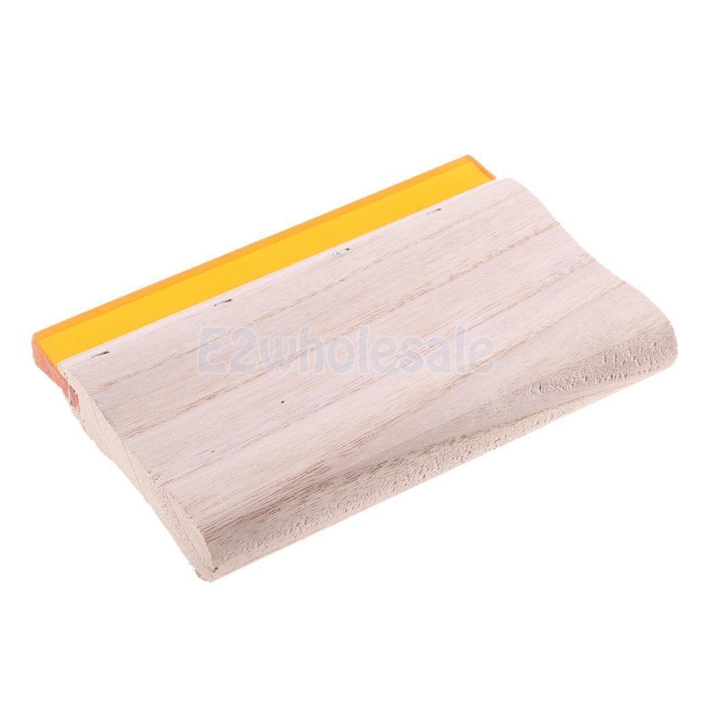 Screen Printing Squeegee Wood Handle Scraper Scratch Board 15cm 65 Hardness