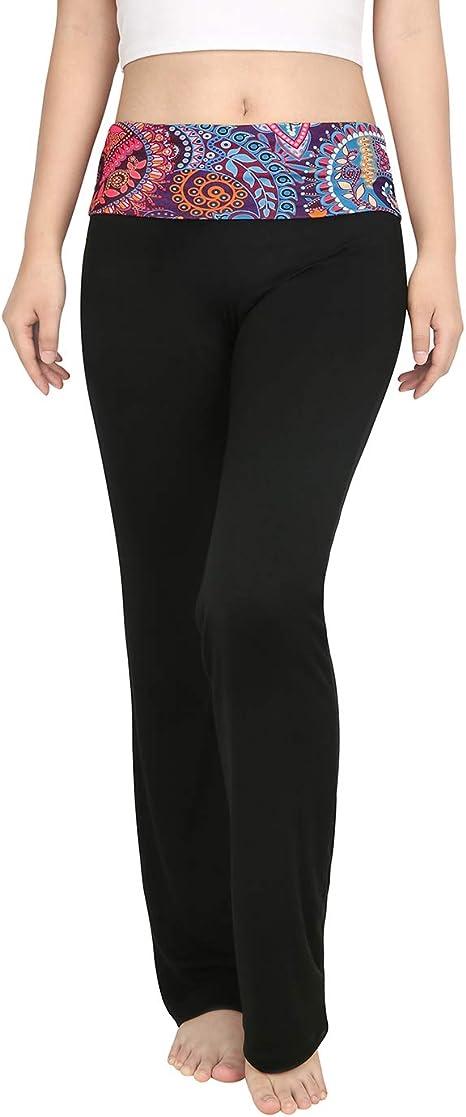 Amazon.com: HDE – Mujer Color Block doblar Cintura Yoga ...