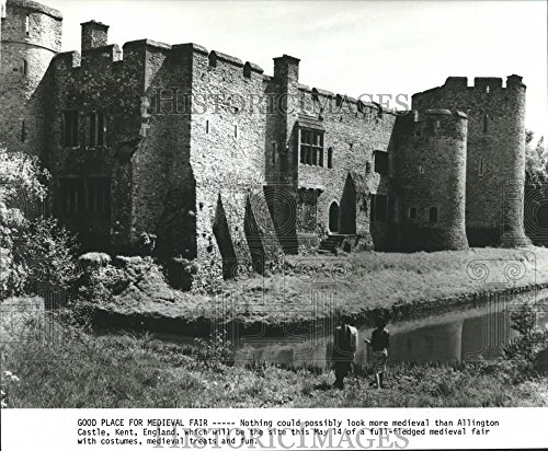 Historic Images 1982 Press Photo Medieval Allington Castle in Kent, England. - hca13083-8 x 9.75 in