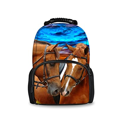 Coloranimal Fashion Horse Backpack for Children Cool Teenager Kids 3D Animal Bookbags hot sale