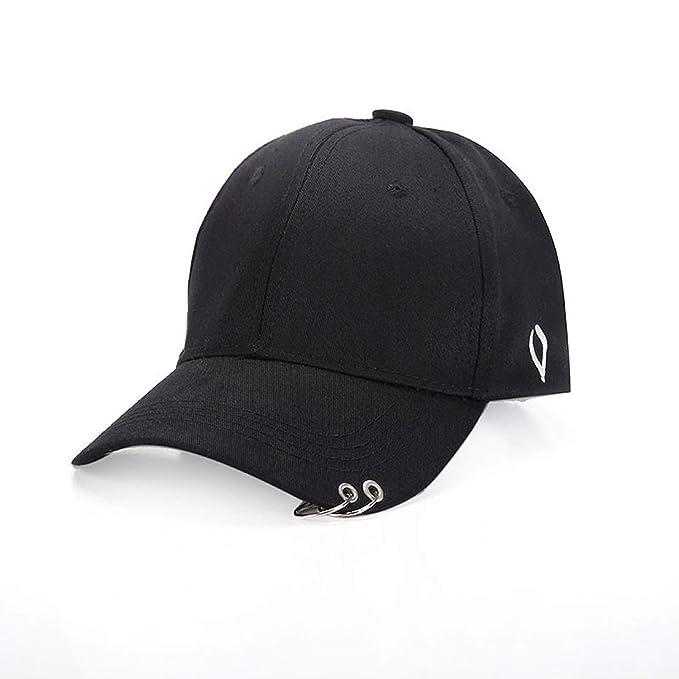 e961e3b266 2019 New Metal Rings Fashion Baseball Cap for Men Women Baseball Hat ...
