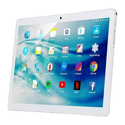 Qimaoo Tablet 10.1 Pulgadas 3G Full HD 2GB de RAM 32GB ROM Android 7.0 1.3GHz Quad Core Dual SIM Dual Cámara WiFi, Bluetooth, GPS