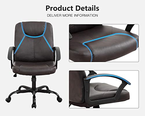 Home Office Chair Ergonomic Desk Chair Leather Computer Chair