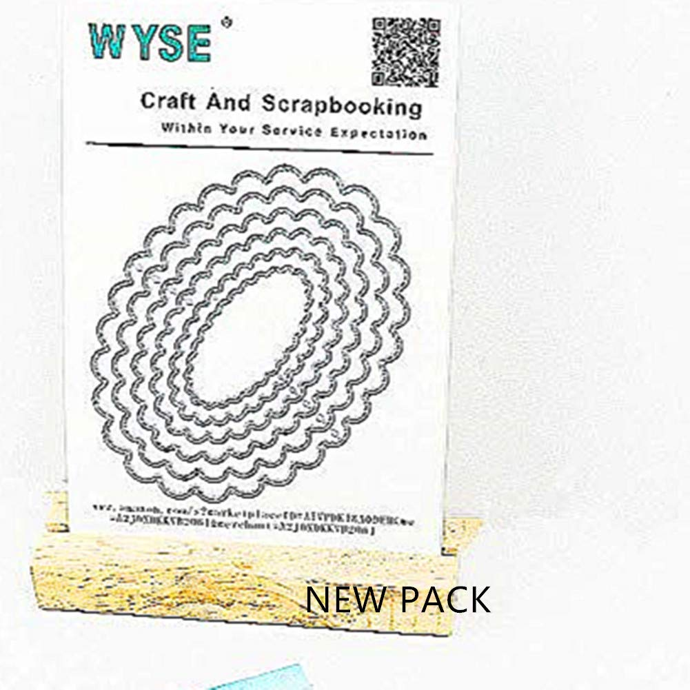 Metal Cutting Dies Oval Shape Embossing Stencil for Card Making Scrapbooking