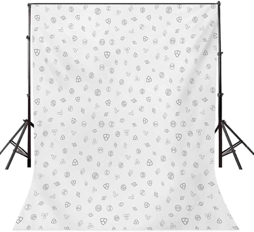 10x12 FT Backdrop Photographers,Cryptocurrency Themed Pattern Banking Business Blockchain Exchange and Finance Background for Baby Shower Birthday Wedding Bridal Shower Party Decoration Photo Studio