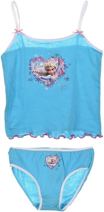 Completo Intimo Bambina Disney T-Shirt Con Slip Frozen PS 09799