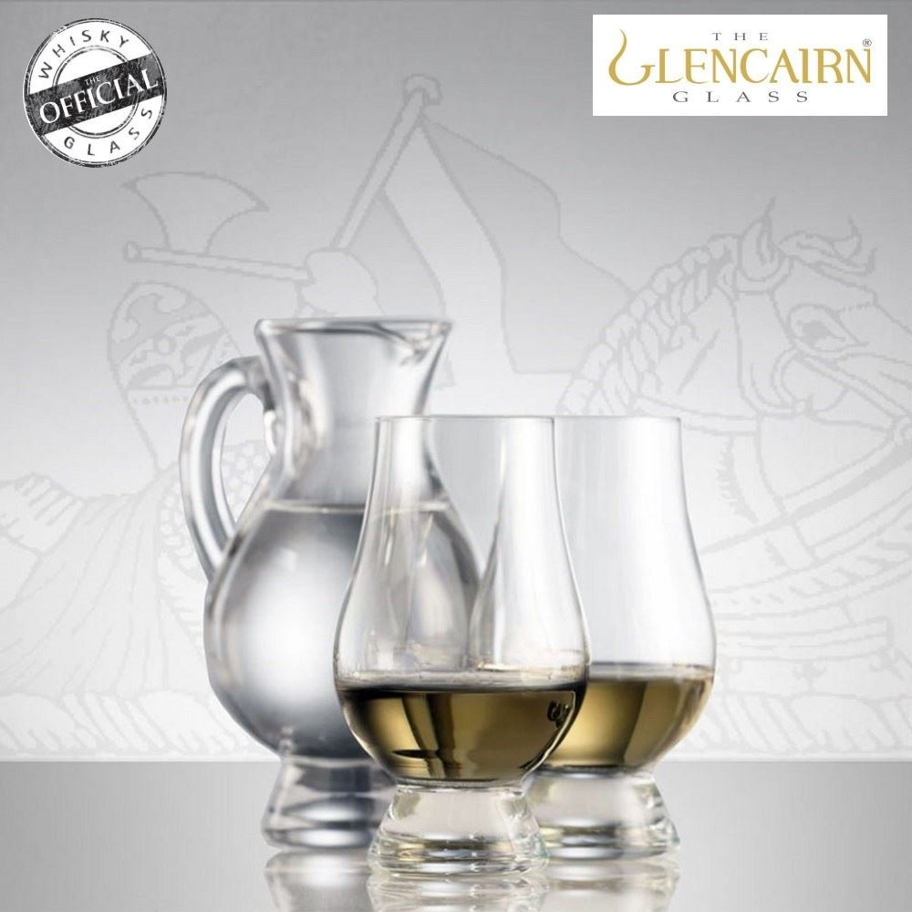 The Glencairn Official Whisky Glass and Water Jug Set Lead Free Crystal - Set of 2 Glasses
