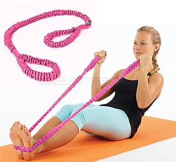 Flexible Tubo Yoga bandas, 2 trabillas, elástico bandas de ...