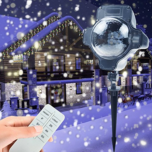 Outdoor Led Snowflake Christmas Lights - 3