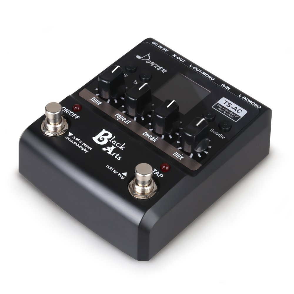 Donner Black Arts Multi Digital Delay Guitar Pedals Problems Inside The Big Pedal Enclosure Using Through Hole Components Musical Instruments