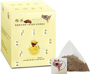 Yu Wei Ginseng - American Ginseng Tea with Wild Ganoderma (Reishi Mushroom, Lingzhi) (3g x 10 Bags)