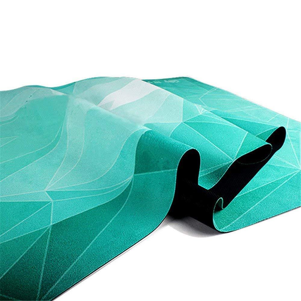 MEIDI Home Fitnessstudio Familie Yogamatte 1mm Grün Köstliche Fitnessmatte Yogamatte