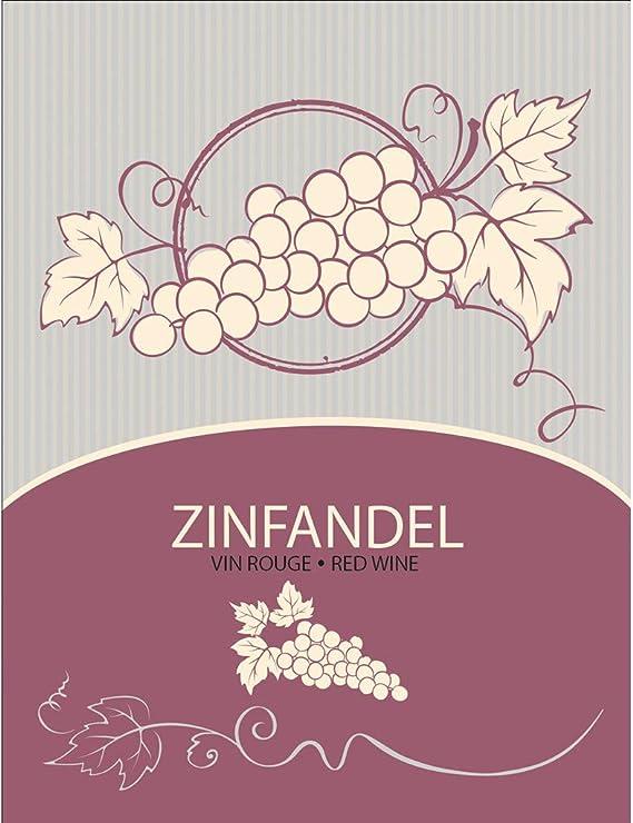 Zinfandel Wine Bottle Labels