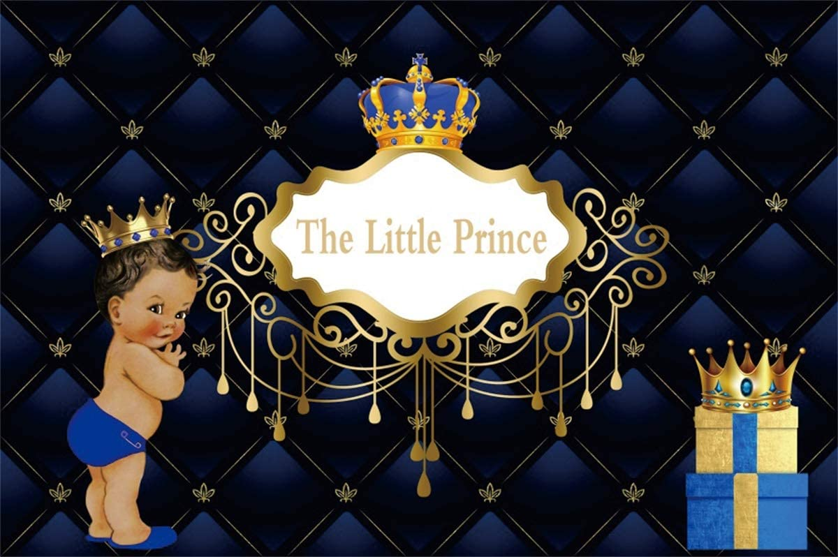 Yeele Little Prince Baby Shower Backdrop Africa Boy Kids Photography Background 10x8ft Royal Crown Gifts Decoration Studio Newborn Props Party Photo Shoot Backdrop Dessert Table Banner