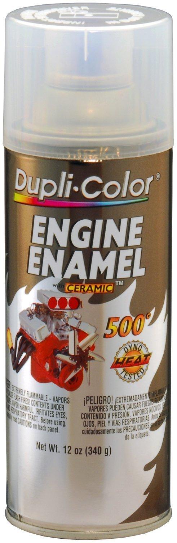 Dupli-Color DE1636 Clear Top Coat Engine Enamel with Ceramic 12 oz. Aerosol (6 PACK)
