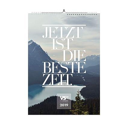 Visual Statements Wandkalender 2019 Das Leben Ist Zu Kurz Für Irgendwann Kalender Din A3 Bilder Mit Sprüchen Dekoration Zum Aufhängen