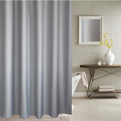 Yukkio Waffle Weave Fabric Shower Curtain Spa Hotel Luxury Heavy Duty Water