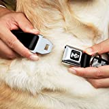 General Motors Dog Collar H2-H2 Black Silver - H2 Black Silver Logo Repeat - Large 15-26