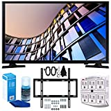 Samsung UN32M4500 32-Inch 720p Smart LED TV (2017 Model) + Slim Flat Wall Mount Kit Ultimate Bundle for 19-45 Inch TVs + SurgePro 6-Outlet Surge Adapter w/ Night Light + LED TV Screen Cleaner