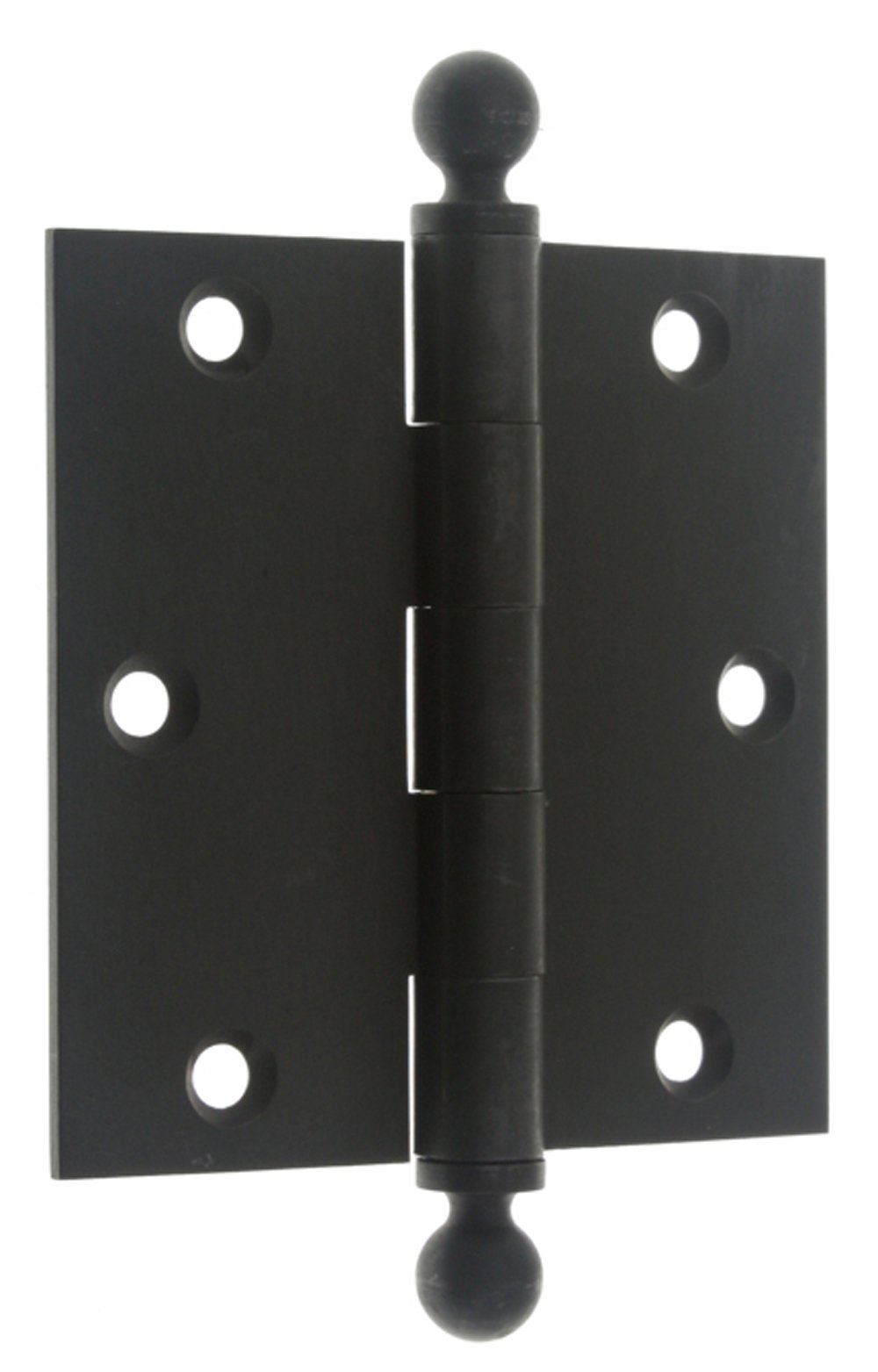 IDHBA 80102-10B Professional Grade Quality Solid Brass x 3-1/2'' Loose Pin Hinges (Pair), 3-1/2 x 3-1/2-Inch, Oil-Rubbed Bronze by IDHBA