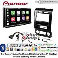 Volunteer Audio Pioneer AVH-W4400NEX Double Din Radio Install Kit with Wireless Apple CarPlay, Android Auto, Bluetooth Fits 2015-2016 Ford F-150, 2017 Ford F-250