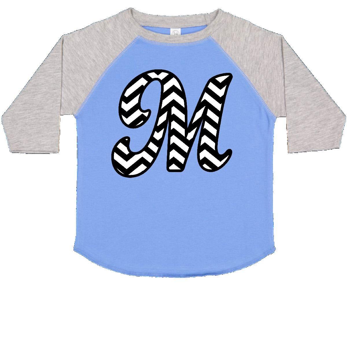 inktastic Chevron Monogram Letter M Toddler T-Shirt