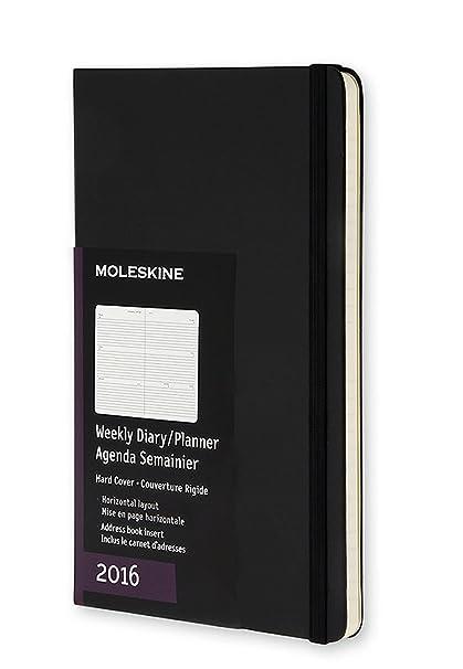 Moleskine 11372 - Agenda horizontal 2016, 12 meses, tamaño bolsillo, color negro