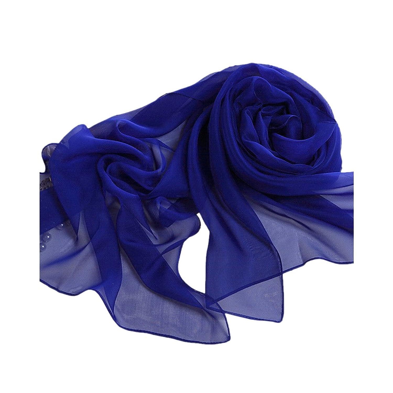 Blue Fashion Lady Girls Long Soft Chiffon Scarf Wrap Shawl Stole Scarves