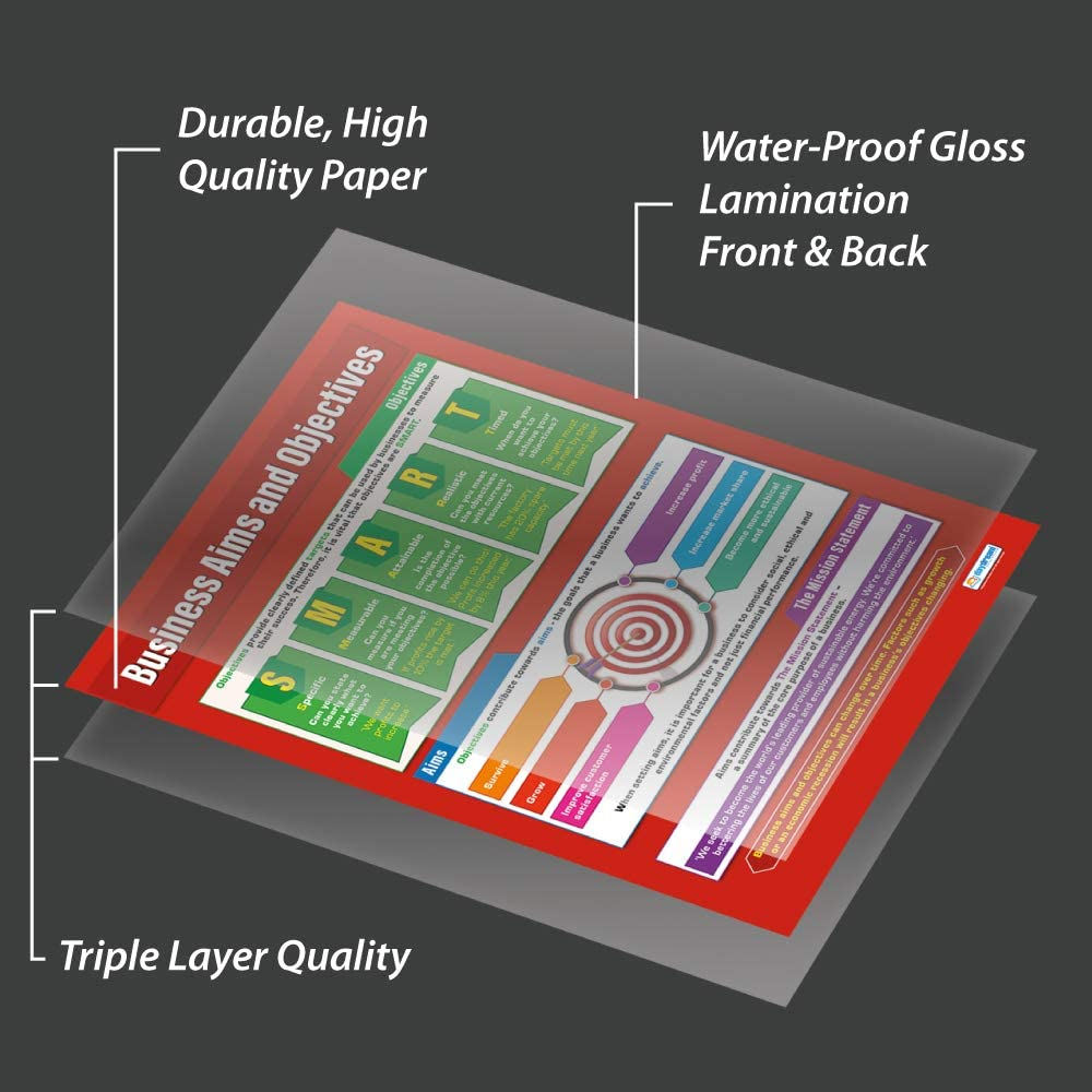 A1 Education Charts by Daydream Education Gloss Paper measuring 850mm x 594mm Business Aims and Objectives   Business Class Posters Business Posters
