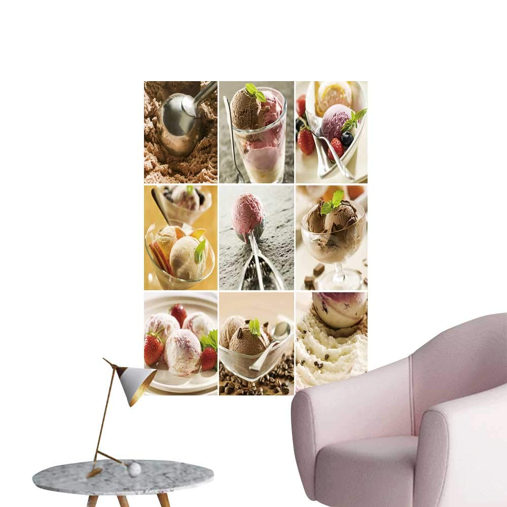 """SeptSonne Wall Painting ice Cream Collage Made from Nine Photographs High-Definition Design,12"""" W x 20"""" L"""