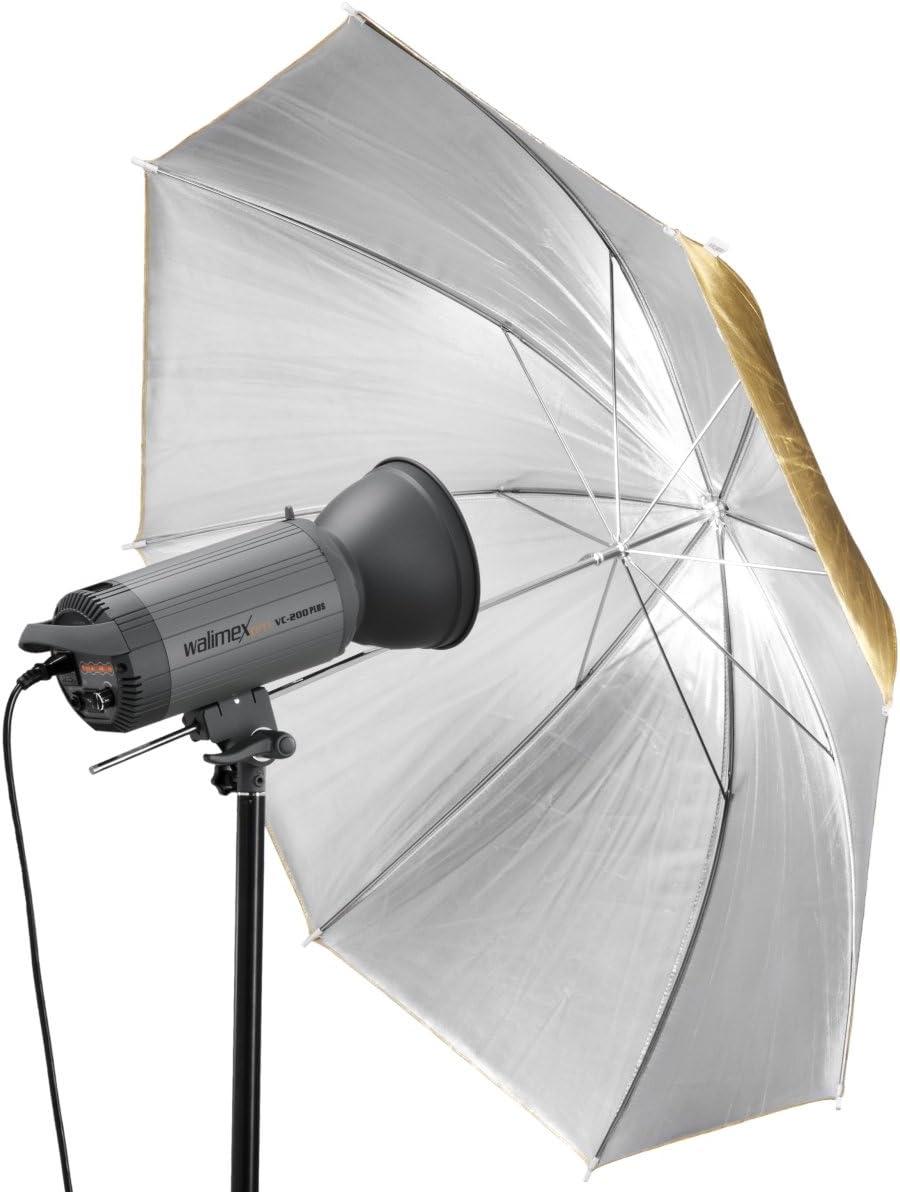 Gold//Silver Walimex 2-in-1 109cm Reflex Umbrella