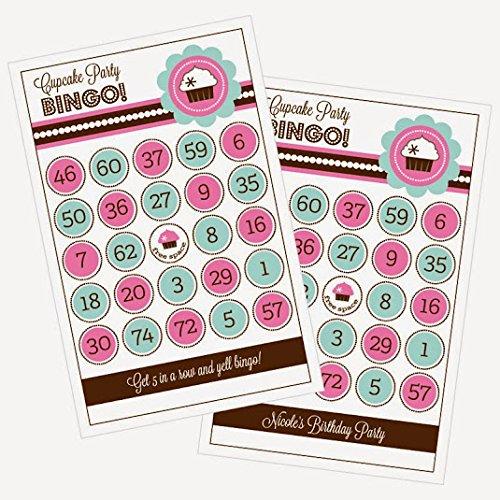 3 sets of 16 Cupcake Party Bingo by Eventblossom