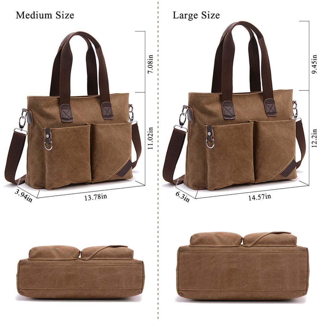 ToLFE Women Top Handle Satchel Handbags Tote Purse Shoulder Bag (Khaki-(Large)) by ToLFE (Image #5)