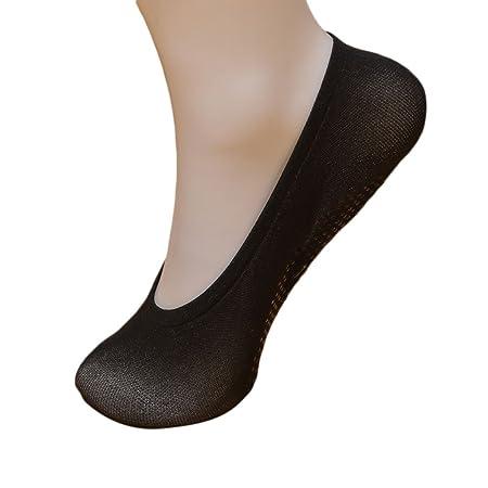 d87ad04602bd0 JAGETRADE Warm Girl Women's Socks Ankle Low Female Invisible Non-Slip  Stealth Boat Socks Black: Amazon.co.uk: Kitchen & Home