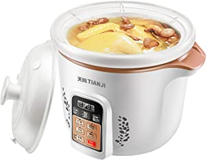 TIANJI Electric Slow Cooker Digital Multi-Functional Cookers,Porridge Pot, DGD40-40TZ, With Ceramic Liner, Appointment timing,4L