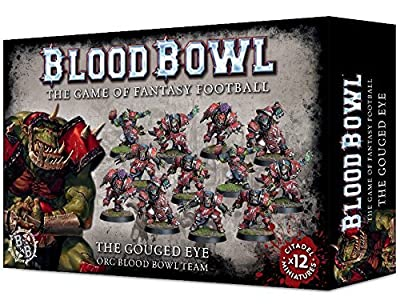 Blood Bowl the Game of Fantasy Football The Gouged Eye Orc Team (12 Miniatures) Games Workshop by Games Workshop