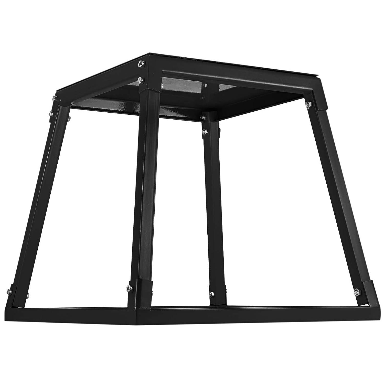 24,Black VEVOR Fitness 24 inch Plyometric Box Excercise Jumping Box Fitness Box Set for Jump Training