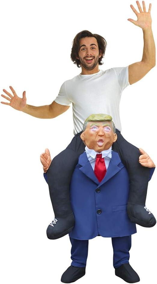Morph Disfraz Líder Trump a Caballito para adultos: Amazon.es ...