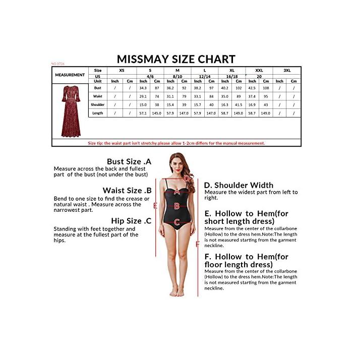 da1b654b2 Home Brands Missmay MissMay Women s Vintage Full Lace Contrast Bell Sleeve  Formal Long Maxi Dress (Medium