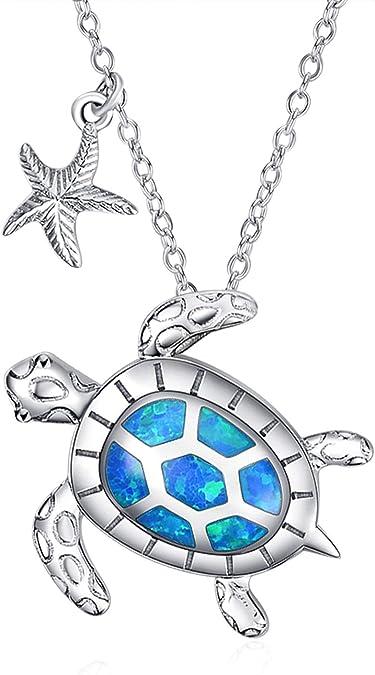 925 Sterling Silver Hawaiian Blue Mosaic Opal Sea Life Dolphin Charm Pendant