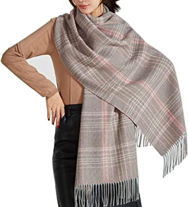 Winter Scarf Women Plaid /& Check Soft Cashmere Pashmina Blanket Stole Wrap Shawl