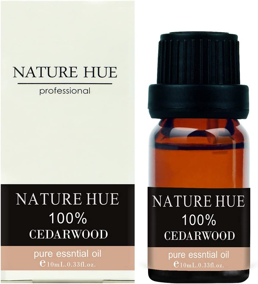 Nature Hue - Cedarwood Essential Oil 10 ml, 100% Pure Therapeutic Grade, Undiluted