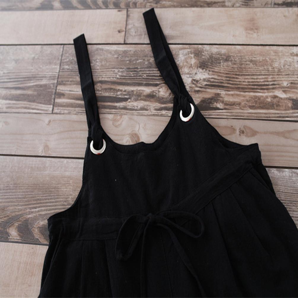 RAISINGTOP Women Ladies Loose Fit Casual Baggy Jumpsuit Strap Bib Pants Trousers Overall Harnes Wide Leg Romper Tall