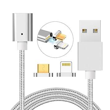 2 in 1 Magnet USB Ladekabel 2M mit Beleuchtung und: Amazon.de ...
