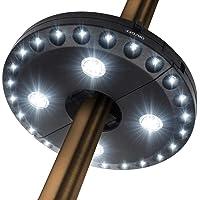 Luz para sombrilla de patio, 3 modos de brillo, inalámbrica, 28 luces LED a 200 lúmenes, 4 pilas AA, para sombrillas…