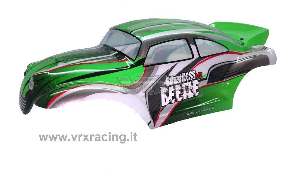 CARROZZERIA VERDE 1/10 OFF-ROAD MAGGIOLINO COMPLETA DI ALETTONE VRX ITALIA