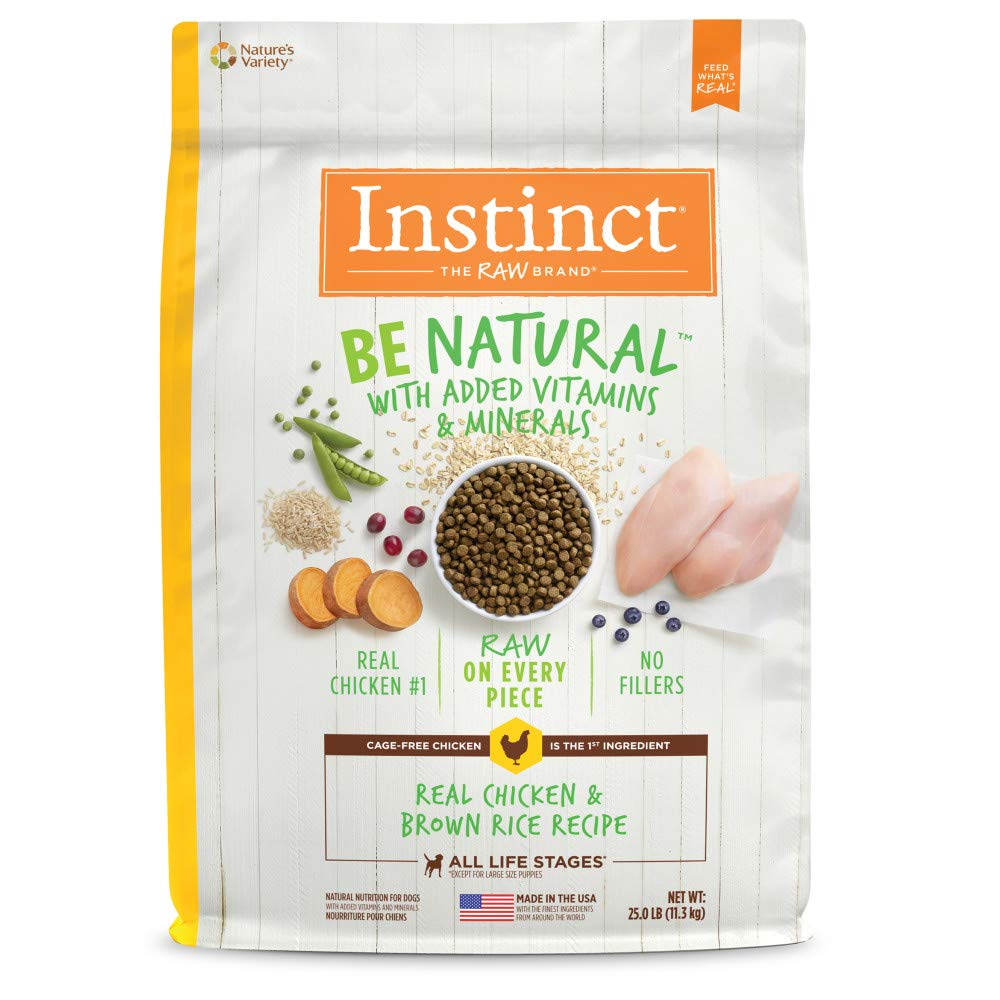Instinct Be Natural Real Chicken & Brown Rice Recipe Natural Dry Dog Food by Nature's Variety, 25 lb. Bag by Instinct