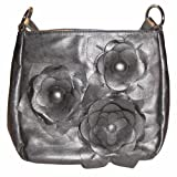 Passion Flower Cross-body Handbag (Charcoal), Bags Central