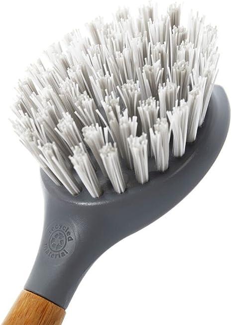 Grey Pack of 2 Bamboo Handle Full Circle Tenacious C Cast Iron Brush and Scraper 1 EA