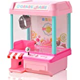 RiZKiZ クレーンゲーム 2WAY電源 [電池/microUSB電源] 【ピンク】 コイン付き あのゲームが自宅で楽しめる!パーティーやお楽しみ会にも